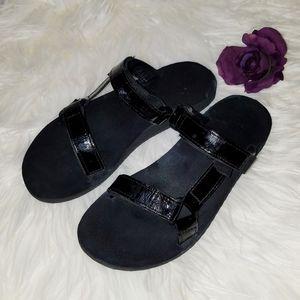 Teva black double strap adjustable 9 40